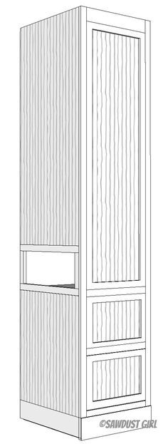 Built-in Wardrobe with Side Cubby -free plans - Sawdust Girl® Closet Built Ins, Built In Wardrobe, Wardrobe Ideas, Capsule Wardrobe, Bedroom Storage, Bedroom Decor, Bedroom Boys, Bedroom Organization, Bedroom Small