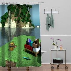 Minecraft Mine Craft Personalized shower curtain customized design for home decor #showercurtain #showercurtains #shower #curtain #curtains #bath #bathroom #home #living #homeliving #cutecurtain #funnycurtain #decorativeshowercurtain #decoration