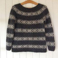 Ravelry: North Atlantic pattern by Lone Kjeldsen Sweater Knitting Patterns, Knitting Stitches, Knitting For Kids, Free Knitting, Knitting Charts, Knit Stranded, Nordic Sweater, Fair Isle Pattern, Fair Isle Knitting