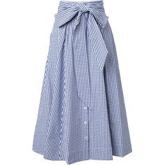 Lisa Marie Fernandez Gingham Check Full Skirt - Navy ($465) ❤ liked on Polyvore featuring skirts, blue gingham skirt, navy skirt, checkerboard skirt, checked skirt and blue skirt