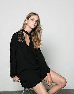 Bershka lace shoulder jumpsuit - Dresses & Jumpsuits - Bershka Croatia