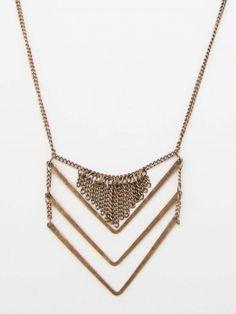 Altar'd State Copper Chevron Necklace $15