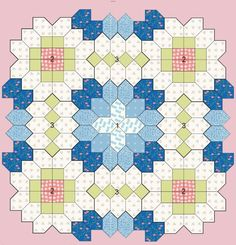 Patchwork of the Crosses - Quilts (beginners)EPP Coffin shape idea