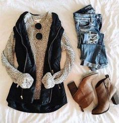 53 Best Hipster Outfits Ideas For Women In This Fall - Winter Outfits Hipster Outfits, Mode Outfits, Casual Outfits, Fashion Outfits, Women's Casual, Casual Fall, Fashion Ideas, Vest Outfits For Women, Outfits 2016