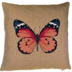Tapestry Butterfly Design Pillow Cover