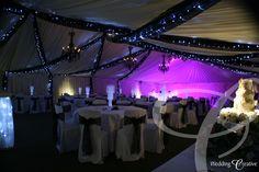 Yaxley Hall, Suffolk.  Wedding lighting and drapes. www.weddingcreative.co.uk