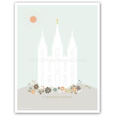 LDS Temple Printout  8.5 x 11 inch  #printable #lds #temple #young_womens #activity_days #print