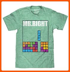 Tetris ' Mr. Right' Licensed T-Shirt-XX-Large - Cool and funny shirts (*Amazon Partner-Link)