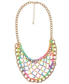 f21 neon necklace