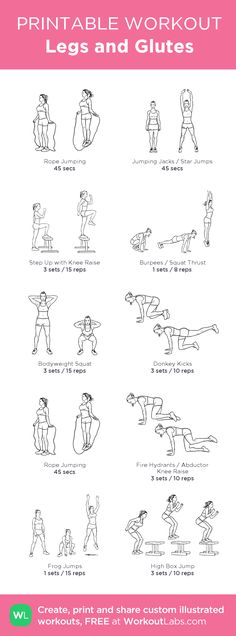 Legs and Glutes:my visual workout created at WorkoutLabs.com • Click through to customize and download as a FREE PDF! #customworkout