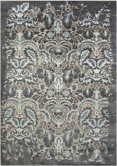 Fine Handknotted Rug Using Bamboo Silk And A Special Blend Of Italian Argentinian Wool