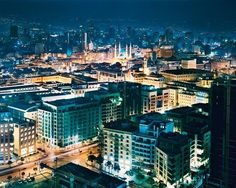 LEBANON, BEIRUT AT DUSK