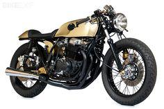 A customized 1976 Honda CB750F Super Sport by Kott Motorcycles of California.