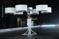 Lady Gaga premieres world's first 'flying dress'