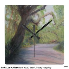 KINGSLEY PLANTATION ROAD Wall Clock