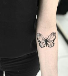 Colorful Butterfly Tattoo, Butterfly Tattoo Cover Up, Butterfly Tattoos For Women, Beautiful Small Tattoos, Pretty Tattoos, Mini Tattoos, Body Art Tattoos, Tatoos, Future Tattoos