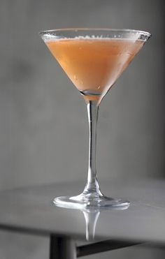 The Duchess: lavender-infused vodka, St. Germain, bitters, Moscato, lemon. (link has recipe)