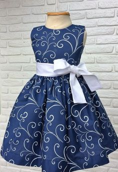 Navy Blue Sleeveless Kids Wear At Fabloon Fashion Boutique And Designer Kids Frock Tailoring kids wear kids dress for girls kids party wear childrens dress wear African Dresses For Kids, Latest African Fashion Dresses, Dresses Kids Girl, Kids Outfits, 50s Dresses, Girls Frock Design, Kids Frocks Design, Baby Dress Design, Baby Girl Dress Patterns