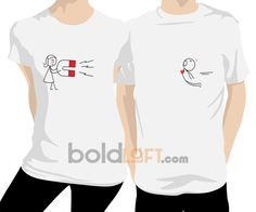 BoldLoft Youre Irresistible Couple T-Shirts, I Love You Couple Tee