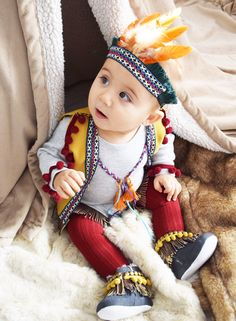 Coolest Homemade Infant Indian Costume | Pinterest | Indian costumes Infant and Costumes  sc 1 st  Pinterest & Coolest Homemade Infant Indian Costume | Pinterest | Indian costumes ...