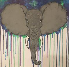#elephant #drawing #painting #elefant #colours #acryl #acrylpainting #selfmade