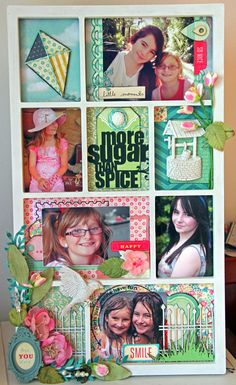 I fell in love with this gorgeous multi-photo frame from Kaisercraft. i used Crate Paper papers (I LOVE the Maggie Holmes collection!) and products from Tanya Leigh designs to embellish this project.