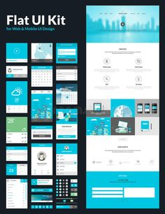 One Page Website Design Template Stock Vector - Image: 41362849