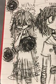Art Drawings Sketches, Cool Drawings, Emo Art, Grunge Art, Art Diary, Indie Art, Arte Sketchbook, Funky Art, Image Manga