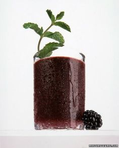 Blackberry-Mint Julep  Turn one of these unique cocktails into your signature drink for your next party.  Like the original, our julep features bourbon infused with mint. But this drinks signature sweetness is tempered by the tartness of blackberries, which also tint it a gorgeous shade of purple. Get the Recipe