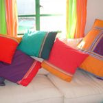 for Home - The Kikoy Company Covered Buttons, Cushion Covers, Beach Towel, Cushions, Colours, Throw Pillows, Bed, Home, Design