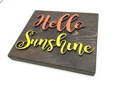 Hello Sunshine Wood Wall Decor by EarthandAsh on Etsy https://www.etsy.com/listing/271106523/hello-sunshine-wood-wall-decor
