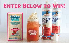5/11. WIN a 2 pack of Incrediwhip & a box of Raspberry Southern Breeze Sweet Tea, and a SBST mason jar!