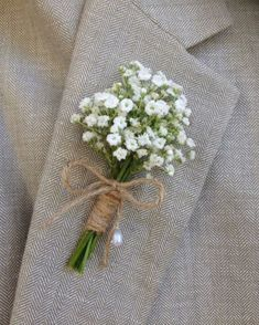 wedding-boutonniere-ideas-with-babys-breath.jpg - wedding-boutonniere-ideas-with-babys-breath. Babys Breath Boutonniere, White Boutonniere, Rustic Boutonniere, Boutonnieres, Babies Breath Bouquet, Beach Wedding Boutonniere, Carnation Boutonniere, Wedding Buttonholes, Babys Breath Flowers