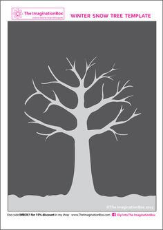 The ImaginationBox: Winter tree template, free to download - just add snow!