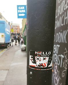 Hello my name is @voxxromana  #voxxromana #bricklane #bricklaneart #stickers #stickerart #stickerbombing #stickerslap #slapstickers #slaps  #streetartistry #streetartlondon #graffiti #stickergame #stickertrade #stickerbomb #stickerartist #slaptag #slaptagging #graffitiigers #ldncallingblog