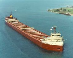 EDMUND FITZGERALD, built in River Rouge, MI 1957, launched 1958, Sunk November 1975 in Lake Superior.