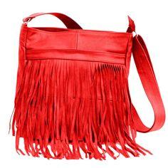 Trendy Fringe Leather Bag