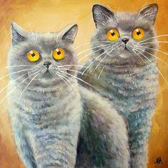 Kim Haskins ( b.1981)  —  Harry & Zac  (500x500)