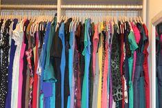 Gigi Stone's dream closet, complete with space-saving skinny hangers