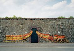 client: orange graffiti Robots - #graffiti #design #exterior #train #illustration #orange #handpainted #bespoke #custom #bristol #design