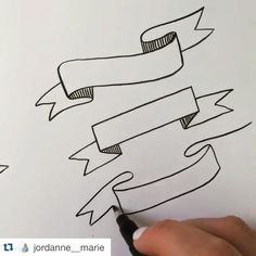 Quick banner illustrations by @jordanne__marie using our Fudenosuke Brush Pen  #tombow #tombowusa #regram