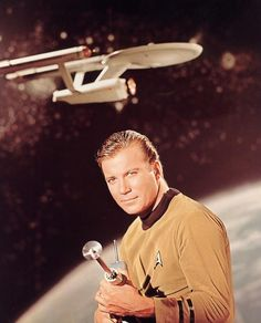 Star Trek Publicity photo: James T. Kirk with rifle