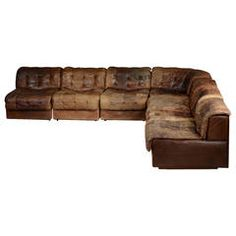 sixsection leather patchwork sofa by de sede