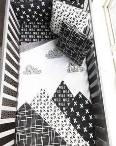 Mountain Baby Blanket Woodland Nursery Crib Quilt