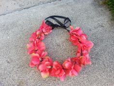 Pink Floral Headband/ Flower Crown. Coachella or by DevineBlooms, $13.00