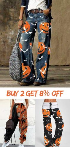 Shop the most popular #Halloween #pants to make your perfect holiday look! 5% off for first order! Buy 2 get 8% off! #womensfashion Halloween Fashion, Halloween Outfits, Halloween Fun, Halloween Costumes, Diy Fashion, Womens Fashion, Fashion Outfits, Winter Outfits, Casual Outfits