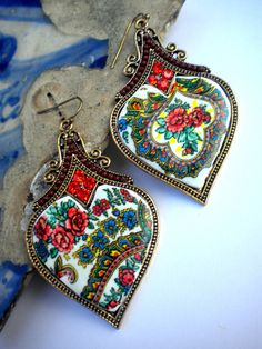 Portugal  Viana  Folklore Scarf  Earrings  Tradition with by Atrio,
