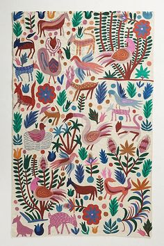 Rugs - This floor covering's whimsical crewelwork adds an element of modern femininity to whichever room it's placed. Tiger Rug, Meditation Mat, Wall Carpet, Cheap Carpet, Yoga Gifts, Tapestry Wall Hanging, Felt Wall Hanging, Carpet Runner, Textile Art