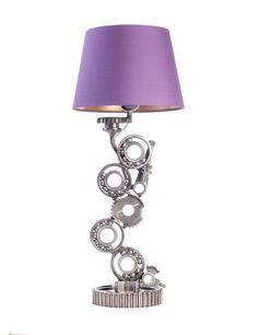 COGSTORY NO.4 Metal desk lamp made of car parts.  Handmade industrial lamp.