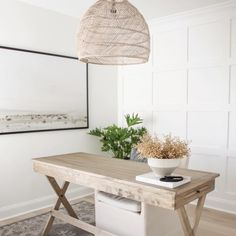 Guest Room Office, Home Office Space, Home Office Design, Home Office Decor, Home Decor, Campaign Desk, Built In Desk, Inspiration Wall, Interior Design